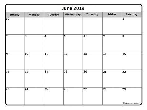June 2019 Calendar 51 Calendar Templates Of 2019 Calendars Free Calendar Template 2019