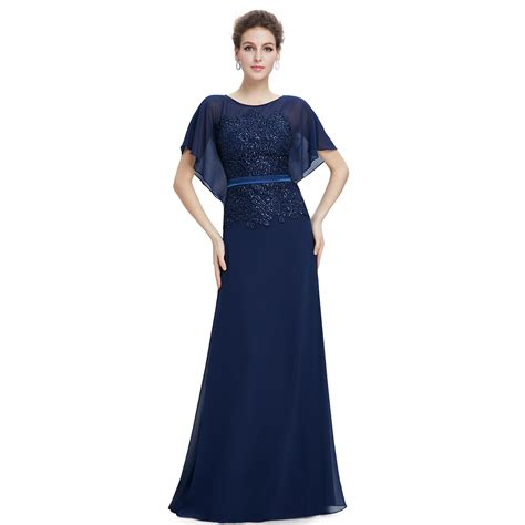Ever Pretty US Women's Long Navy Blue Formal Prom Dress Evening Party Gown 08775