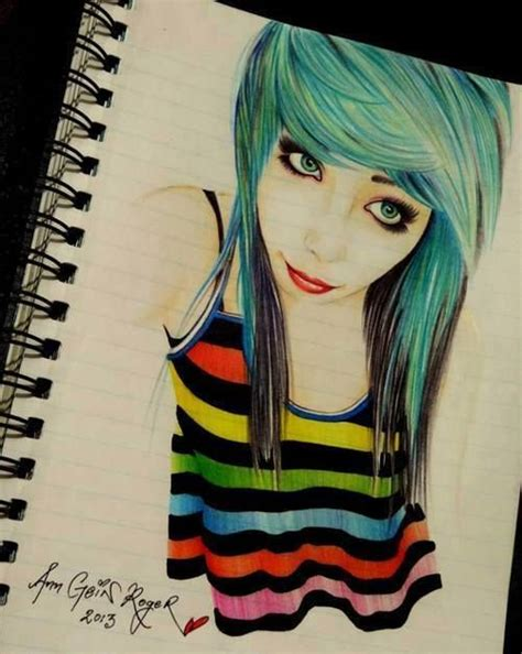 emo hairstyles drawing emo drawing emo drawings pinterest awesome do you