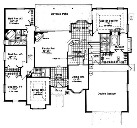 southwestern floor plans fairhill southwestern home plan 047d 0044 house plans