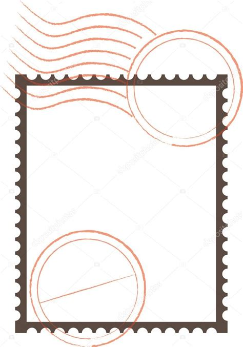 Type Of Cornice Postage Stamp Frame Stock Vector 169 Angeliquedesign 7469879