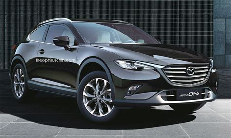 mazda cx 4 rendered as a two door coupe crossover
