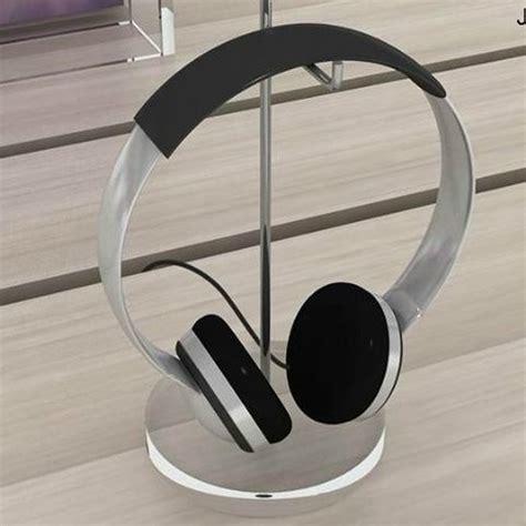Headphone Rack by 25cm Acrylic Base Headphone Stand Display Shelf Headset