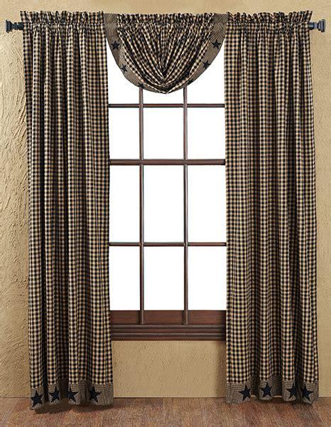 black star curtains black applique star lined balloon curtain valance 60 x 15