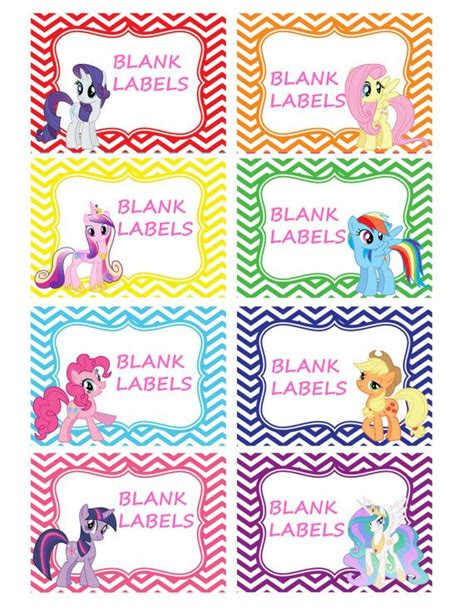 printable unicorn meat label my little pony labels 8 pack blank buffet by