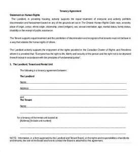 tenancy contract template sle tenancy agreement template 9 free documents in