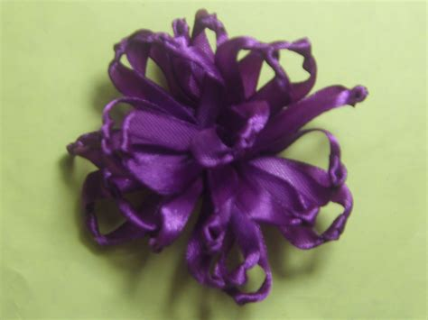 knotted ribbon flower 4evercrafting