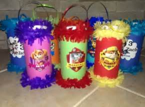 Paw patrol birthday party mini pinatas goody bags favor danikaspartydecor on artfire