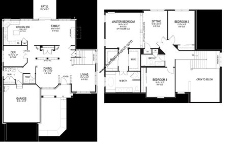 essex homes floor plans essex model in the waterbury place subdivision in buffalo