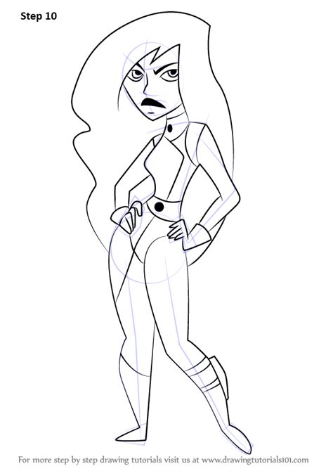 learn how to draw shego from kim possible kim possible