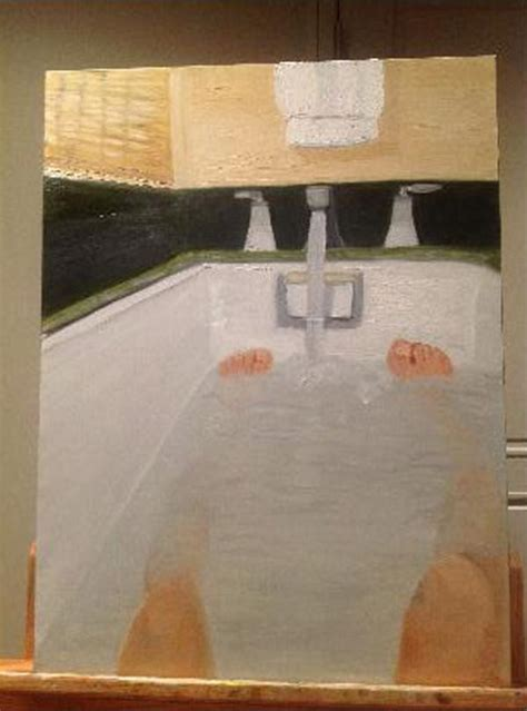 George Bush Paintings Bathtub is george w bush depressed politricks