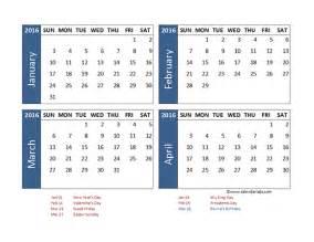 Blank calendar printable 2016 calendar templates quotes