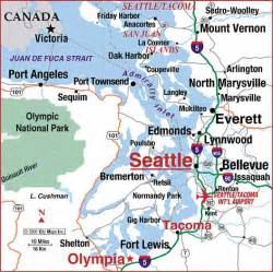 Seattle Tacoma Map by Road Map Of Seattle Tacoma Area Seattle Washington
