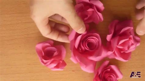 How To Make Roses Out Of Construction Paper - easy way to make a real from paper tutorial
