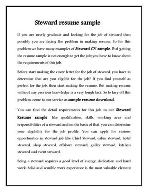 kitchen steward resume kitchen steward resume resume ideas