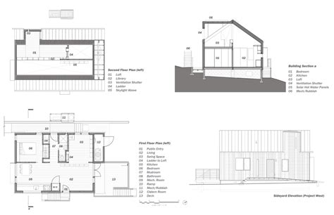 section and plan simple house design with plan elevation and section joy