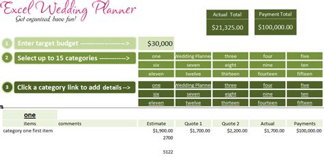 Free Excel Wedding Planner Template Download Today 187 Chandoo Org Learn Excel Power Bi Free Wedding Planner Templates