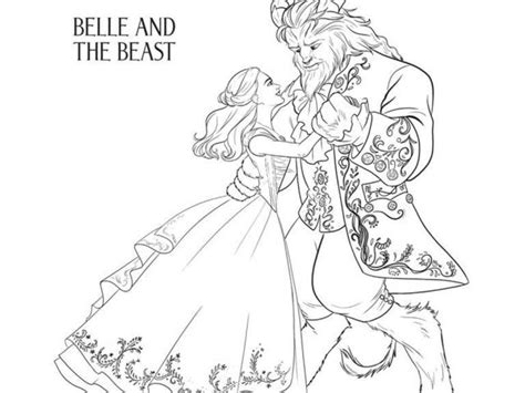 printable version of beauty and the beast get this free printable beauty and the beast 2017 coloring