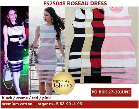 Dde5102 168 000 Premium Dress roseau dress supplier baju bangkok korea dan hongkong