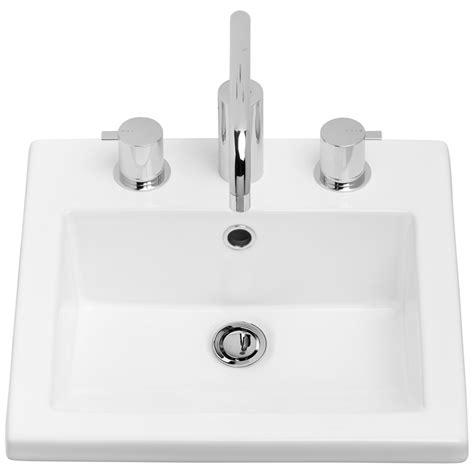 Liano Vanity Basin by Caroma White Liano Vanity Basin With No Tap White