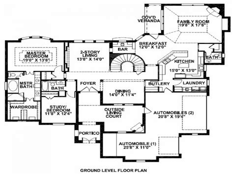 Bedroom House Plans by Mansion House Plans 8 Bedrooms Photos And