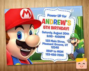 mario invitation mario birthday by mrhappyinvites
