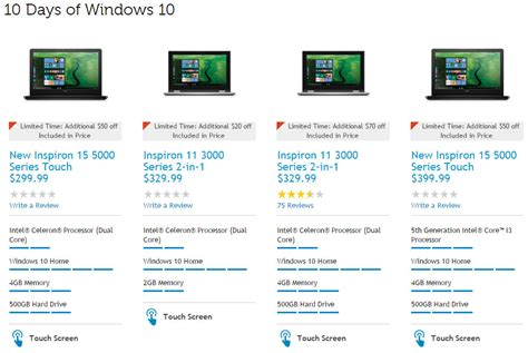 sle of windows 10 dell has 70 laptops and desktops with windows 10 for sale