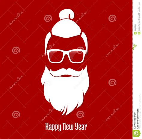Flat Layout Design santa claus hipster party greeting card banner sticker
