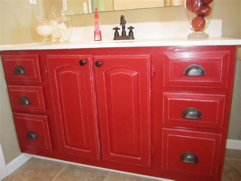 red painted bathroom vanity bathroom vanities ideas