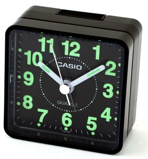 casio tq140 1d black easy reader table top travel alarm clock ebay