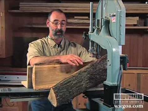 woodworking with logs woodworking project tips band saw cutting a log on a