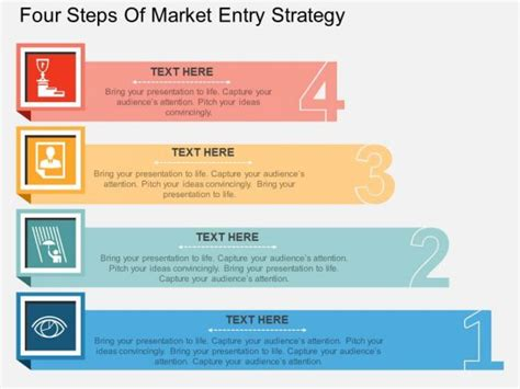 powerpoint strategy templates four steps of market entry strategy powerpoint template