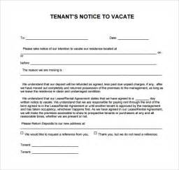 letter to vacate template 24 free eviction notice templates excel pdf formats