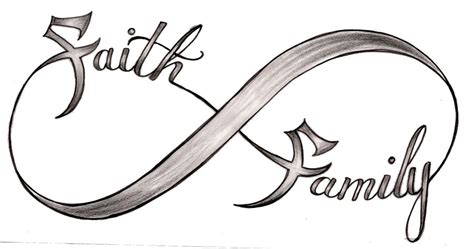 faith symbol tattoo designs infinity symbol with family faith design