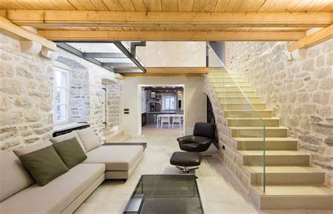 interior renovation of a century old home in canada by modern renovation of a 19th century old stone house in