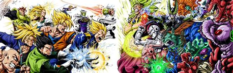 dragon ball z villains wallpaper dbz villains vs heroes clash by bk 81 on deviantart