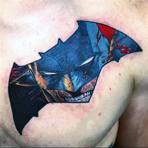 batman chest tattoo 100 batman tattoos for ink designs