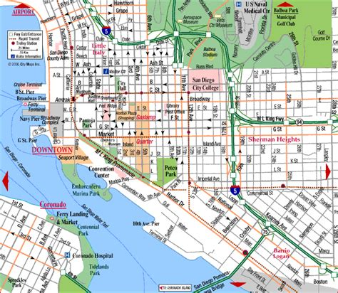 maps san diego road map of san diego center san diego california aaccessmaps