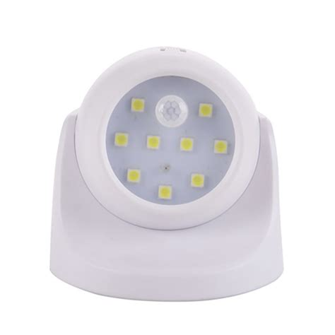 9 led battery power sconce wireless light operated motion
