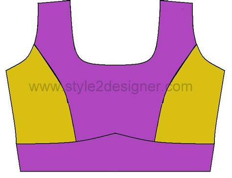 pattern making of katori blouse types of princess cut blouse with waistband style2designer