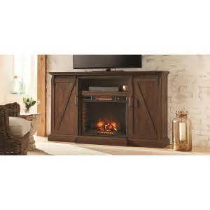 Barn Door Electric Home Decorators Collection Chestnut Hill 68 In Media Console Electric Fireplace In Rustic