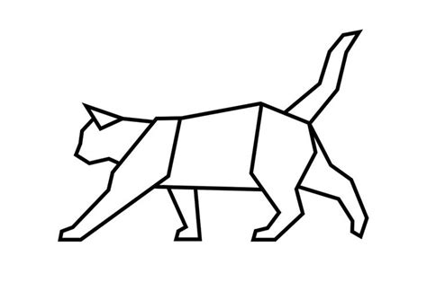 geometric cat coloring pages 726 best flock ideetjes images on pinterest silhouettes