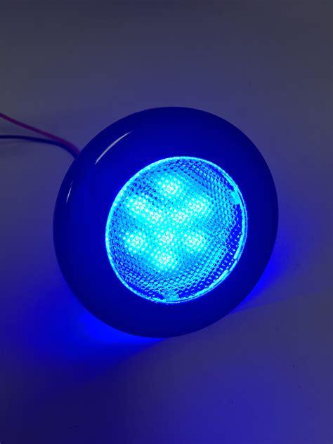 led lights marine marine boat rv flush mount led blue courtesy light