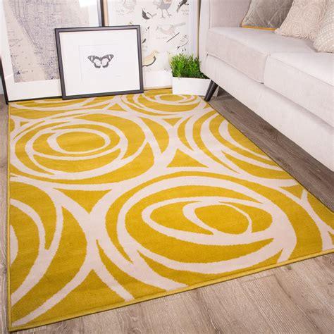 yellow pattern rug uk floral rose swirl mustard yellow rug milan kukoon