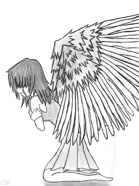 crying angel by xcdfx on deviantart