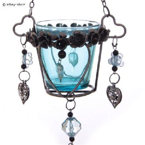kerzenhalter zum hängen neu glas windlicht t 252 rkis kerzenhalter teelichthalter