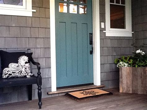 front door colors for gray house teal blue front door and gray siding cottage ideas renos