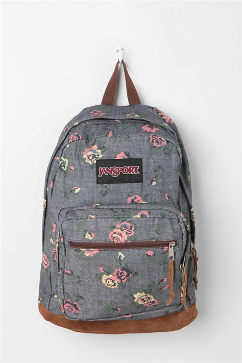 Tas Jansport Floral jansport floral chambray backpack from outfitters epic