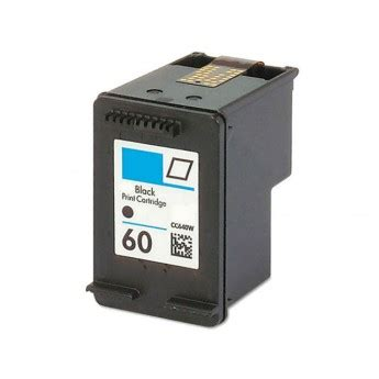 Cartridge Hp Black Ink 60 100 Original hp 60 cc640wn black remanufactured ink cartridge
