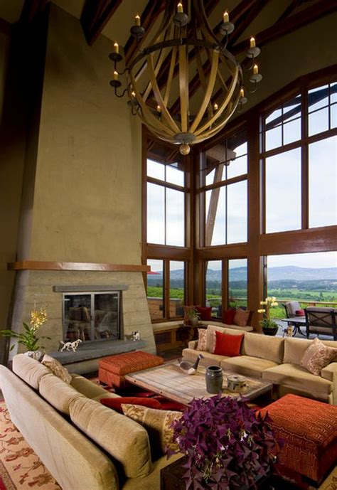 high ceiling living room images